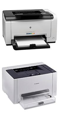 Цветные лазерные принтеры HP CP1025 и Canon LBP7010c