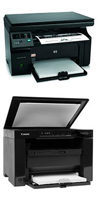 Монохромные лазерные МФУ HP и Canon