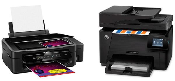 Принтеры HP Color LaserJet Pro MFP M177fw и Epson L355
