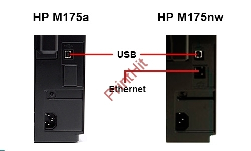 Задняя панель принтера HP M175
