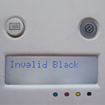 Сообщение Invalid Black на дисплее принтера Xerox 6010