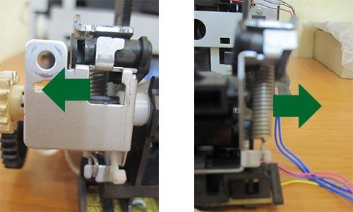 Снятие прижимных пружин печки Canon LBP 2900