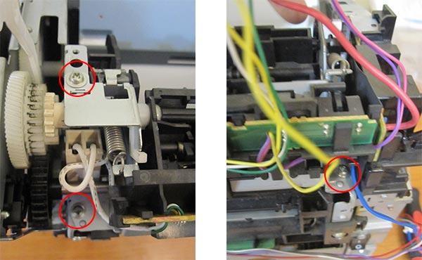 Демонтаж узла закрепления в принтере Canon LBP 2900