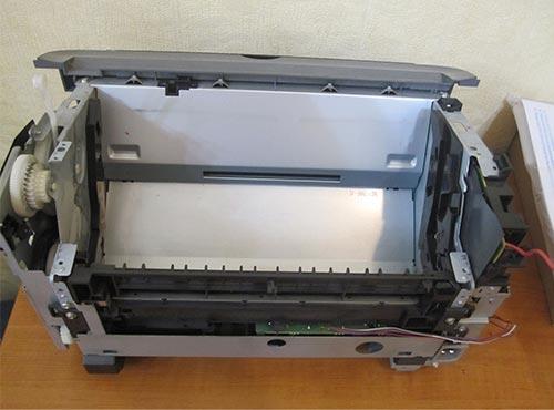Принтер Canon LBP 2900 со снятой печкой