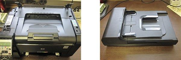 Демонтаж сканера HP M175